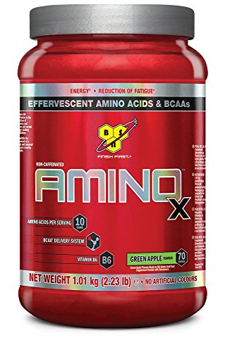 BSN Supplemento Nutrizionale Amino X, 70 Srv, Green Apple Multi-Lingual - 1820 gr