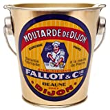 Fallot Dijon Mustard, authentic imported in metal pail 16 oz presentation