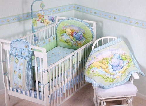 Cathy Heck Little Pond 3 Piece Accessory Set (Includes: Diaper Stacker, Crib Ruffle, and Flannel Blanket)