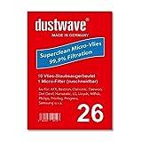 Sparpack - 10 Staubfilterbeutel geeignet für Clatronic - BS 1301 Staubsauger - dustwave® Markenstaubbeutel / Made in Germany