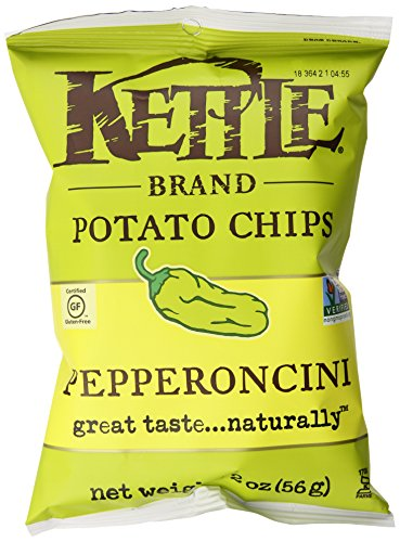 Kettle Brand Potato Chips Caddy, Pepperoncini, 2 Ounce (Pack of 6) (Kettle Brand Chips compare prices)