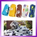 MECO(TM) Pet Dog Cat Blanket Mat Bed with Paw Prints Free Shipping