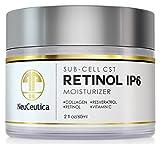 NeuCeutica Retinol Moisturizer Cream Anti Wrinkle for Neck, Face: With Collagen, Vitamin C, Resveratrol - 2 Ounce