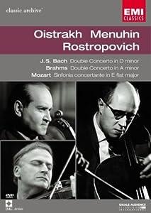 David Oistrakh, Yehudi Menuhin, Mstislav Rostropovich Bach, Mozart, Brahms /