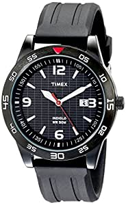 """Timex Men's T2N694 """"Elevated Classics"""" Watch with Black Resin Strap"""
