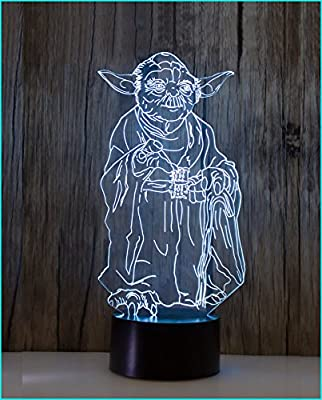 TG Desk Lamp 3d Star Wars 7 Colors Change Table LED Light Night Lighting Home Decoration Household Accessories