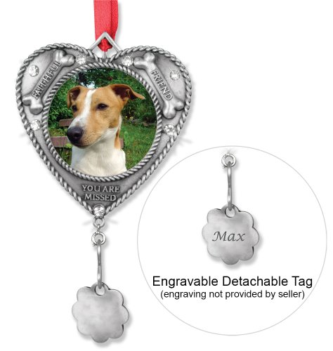 Dog Bereavement Memorial Photo Ornament