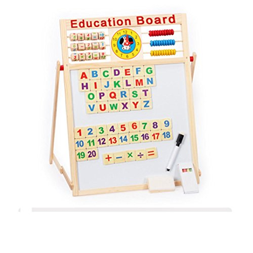 XUANOU-Infant-realia-Double-sided-Versatile-Blackboard-Whiteboard-Magnetism-Drawing-Board-Wooden-Abacus-Toys