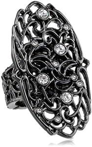 T Tahari Lace Stretch Adjustable Ring