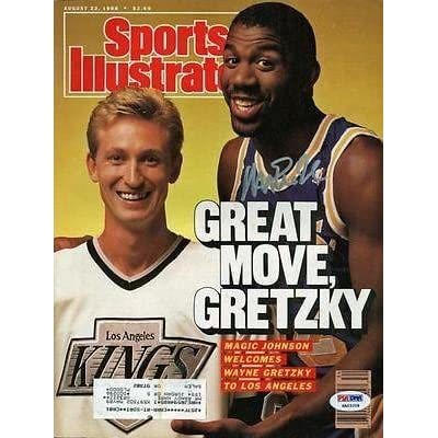 Lakers Magic Johnson Signed Sports Illustrated W/ Gretzky Itp - PSA/DNA Certified - Autographed NBA Magazines sale off 2015