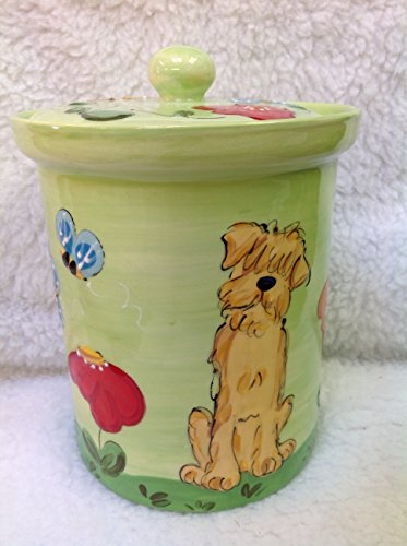 Bulldog Treat Jar. Personalized at no Charge. Signed by Artist, Debby Carman. (Personalized Dog Treat Jar compare prices)