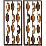 Deco 79 Metal Mirror Wall 2 Assorted, 14 By 34""