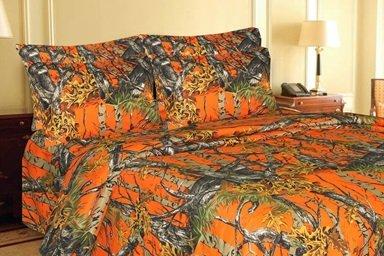 Regal Comfort Hunting Orange Woodland Camo Comforter & Sheet Set Bed In A Bag- Queen - front-795139