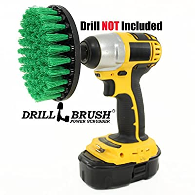 Carpet Brush Drill Attachment Medium Duty Scrubbing Drill Brush with Quarter Inch Quick Change Shaft