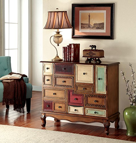 Furniture of America Zeppo Vintage Style Storage Chest, Antique Walnut 0