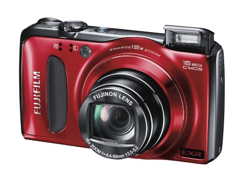 Fujifilm FinePix F500 Digital Camera - Red (16MP, 15x Optical Zoom) 3 inch LCD