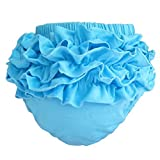 Buenos Ninos Girl's Cotton Shorts Top Baby Bloomer Diaper Covers Various Colors Blue L Size: L(12-18month) Color: Blue, Model: , Newborn & Baby Supply
