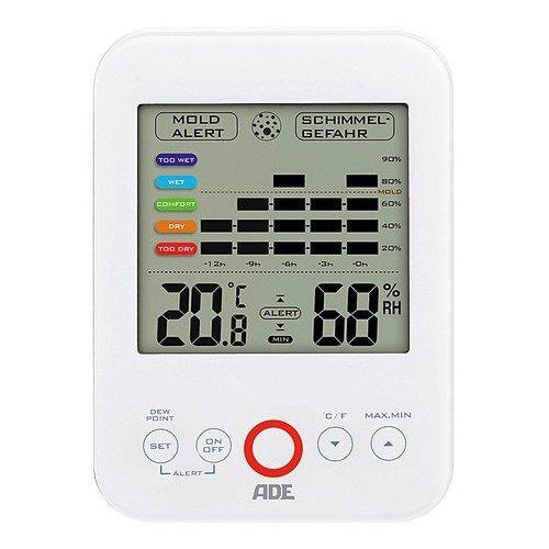 Digitales Hygrometer WS 1500 mit visuellem Schimmelalarm (weiß)