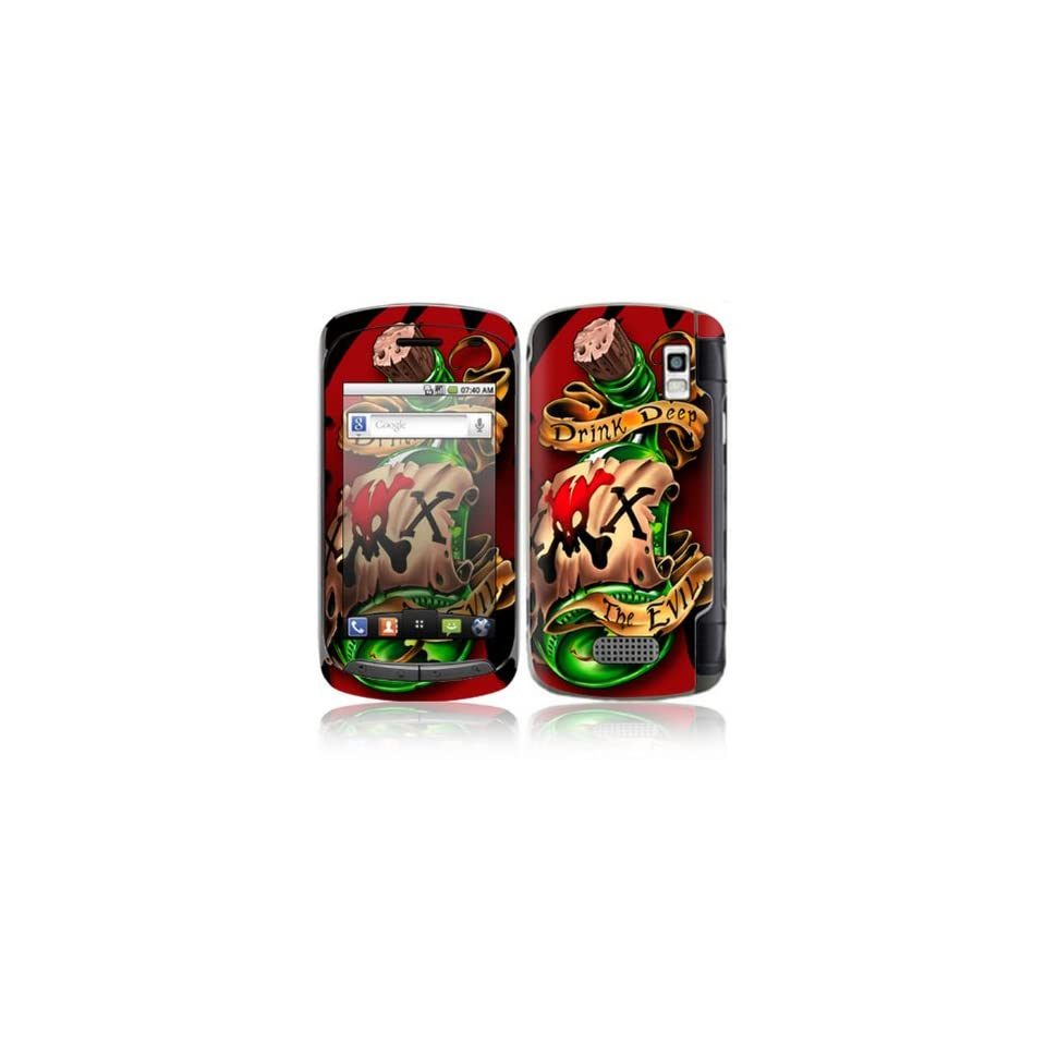 Bottle Design Decorative Skin Cover Decal Sticker for LG Genesis US760 Cell Phone