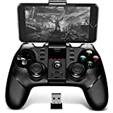 iPega 9076 Bluetooth Gamepad with Bracket 2.4G Wireless Receiver - BLACK