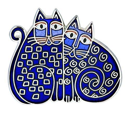 laurel-burch-blue-indigo-cats-cloisonne-brooch-in-silver