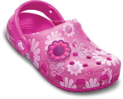 Crocs Kids Chameleons Floral Clog Mules And Sandal