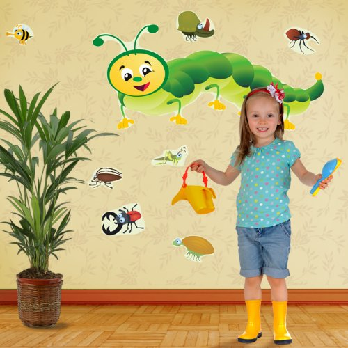 Mona Melisa Designs, Big Peel and Stick Decal, Bugs