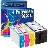 4x Patrone XXL für HP 920 XL Black Cyan Magenta Yellow mit Chip , Drucker : HP Officejet 6000 6000 Special Edition 6000SE 6000W 6000 Wide 6000 Wireless