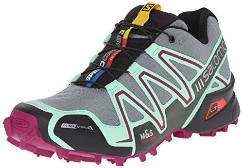 Salomon Women's Speedcross 3 CS W Trail Running Shoe, Light TT/Lucite Green/Mystic Purple, 7.5 B US (Speedcross Cs Salomon compare prices)