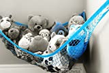 MiniOwls-TOY-STORAGE-HAMMOCK-XL-Organizer-in-Blue-also-comes-in-White-Pink-De-cluttering-Solution-Inexpensive-Idea-for-Every-Room-at-Home-or-Facility-3-is-Donated-to-Breast-Cancer-Foundation