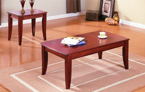 Cheap All new item 2 pc dark wood finish coffe and end table set (AMB F3244)