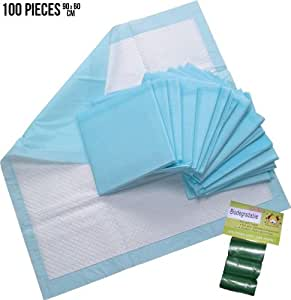 100 X-LARGE 60 x 90 CM PUPPY TRAINER TRAINING PADS TOILET WEE 90x60 a54