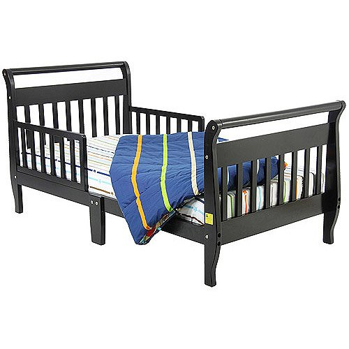 Dream On Me - Sleigh Toddler Bed, Black front-862912