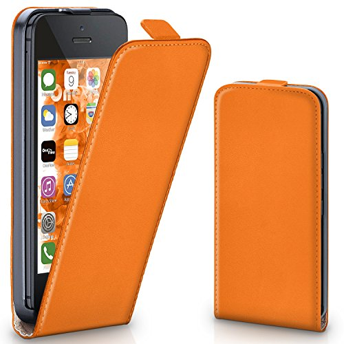 OneFlow PREMIUM - Flip-Case - per Apple iPhone 5 / 5S - CANYON-ORANGE