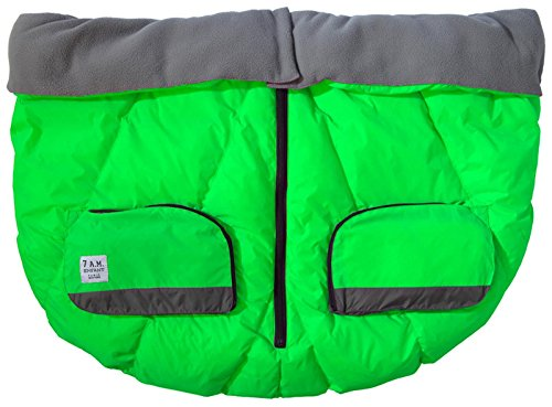 7AM Enfant Duo Double Stroller Blanket, Neon Green
