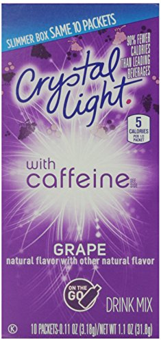 Crystal Light On The Go Energy, Grape, 10 ct (Crystal Light Grape Caffeine compare prices)