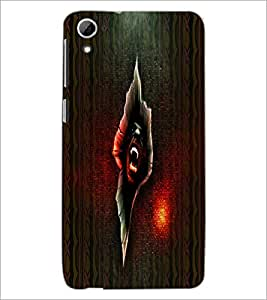 PrintDhaba Scary Image D-4006 Back Case Cover for HTC DESIRE 826 (Multi-Coloured)
