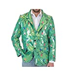 Sequin Christmas Lights Green Ugly Christmas Suit Jacket