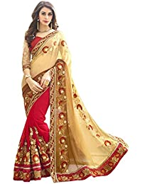 RHMART Women's Georgette Party Wear Saree With Blouse Piece