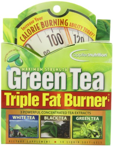Applied Nutrition Green Tea Triple Fat Burner, 30 Liquid Soft-Gels (Pack of 3)