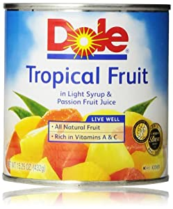 Dole Mixed Tropical Fruit In Passion Fruit Nectar, 15.25 Oz