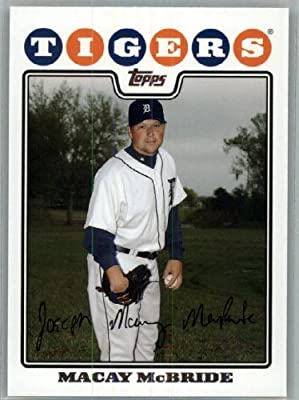 2008 Topps Detroit Tigers LIMITED EDITION Team Edition Gift Set # 40 Macay Mcbride - MLB Trading Card