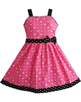 Sunny Fashion Robe Fille Coeur Couleur Rose Imprimer Robe en coton