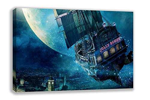 Peter pan jolly roger bateau film disney impression sur - Bateau pirate peter pan ...
