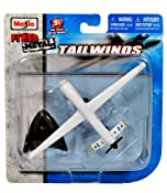 "Amazon.com: Maisto Fresh Metal Tailwinds 1:97 Scale Die Cast United States Military Aircraft - US Air Force Medium Altitude, Long Endurance, Unmanned Aerial Vehicle (UAV) RQ-1 Predator with Display Stand (Dimension: 6"" x 3-1/2"" x 1""): Toys & Games"