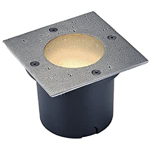 SLV Lighting 227490U Wetsy Recessed Ground Lamp with Square Cover with