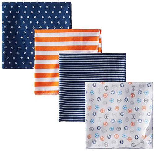 Gerber Baby-Boys Flannel Receiving Blanket, Sports, One Size (Pack of 4)