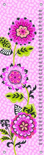 Oopsy Daisy Growth Charts Suzette Bloom by Josephine Kimberling, 12 by 42-Inch