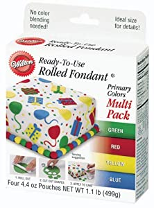 Wilton Primary Colors Fondant,  Multi Pack