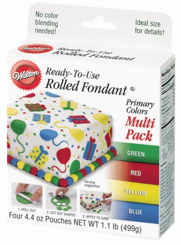 Wilton Primary Colors Fondant,  Multi Pack at Amazon.com